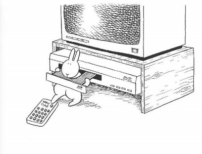 Bunny with a macintosh 3