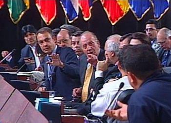 On Juan Karlos eta Hugo Chavez, round one
