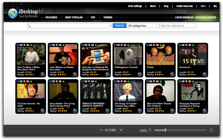 iDesktop.tv - Hasiera orria