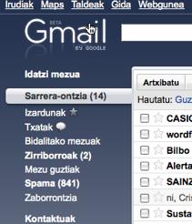 Gmail euskaraz: globalak gara! 1