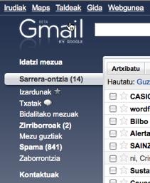 Gmail euskaraz: globalak gara! 8