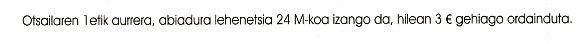 Otsailaren 1etik aurrera, abiadura lehenetsia 24 M-koa izango da, hilean 3€ gehiago ordainduta.