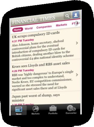 Financial Times eta App Store bidezko harpidetzak 2