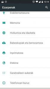 CyanogenMod ROM alternatiboaren 12. bertsioak euskarazko interfazea dakar. Laguntza behar da euskaraketa hobetu eta osatzeko.