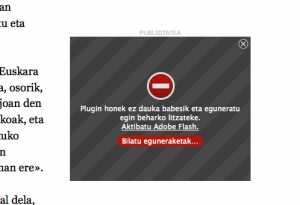 Flash Firefoxen desgaituta