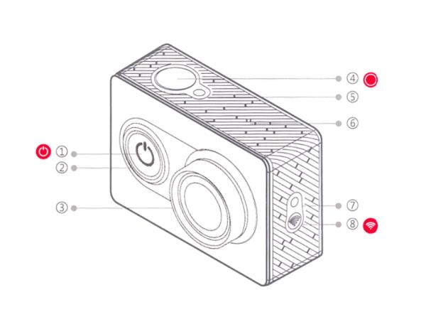 xiaomi yi kamera diagrama