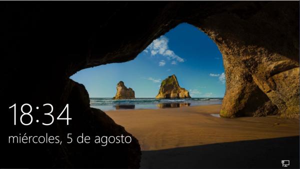 Windows 10 hasierako pantaila gazteleraz