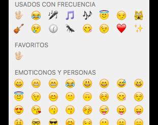 Nola erabili emojiak Mac-ean 2