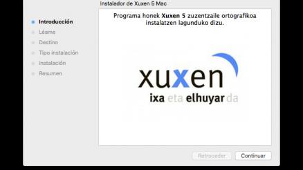 Xuxen 5 Mac instaladorea 13
