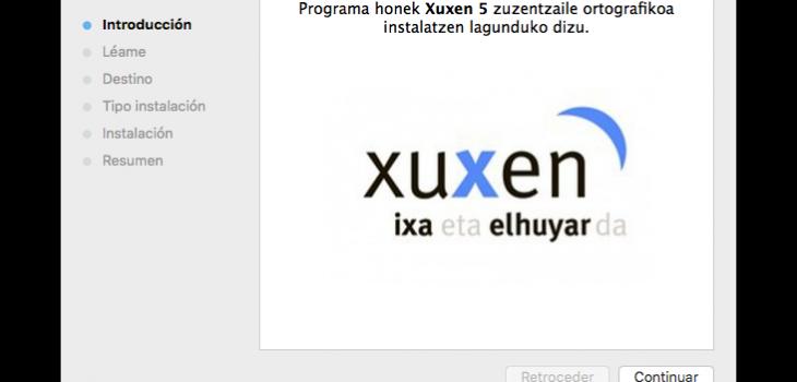 Xuxen 5 Mac instaladorea 5
