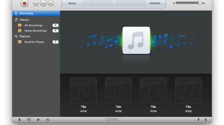 Leawo Music Recorder. Mac bertsioaren interfazea.