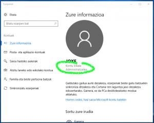 Konfiguratu Windows 10 <i>jaubia lez</i> 2