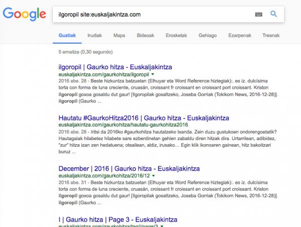 Nola bilatu Googlen jaubia lez 1