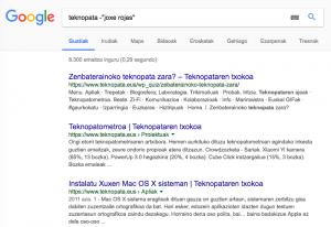 Nola bilatu Googlen jaubia lez 7