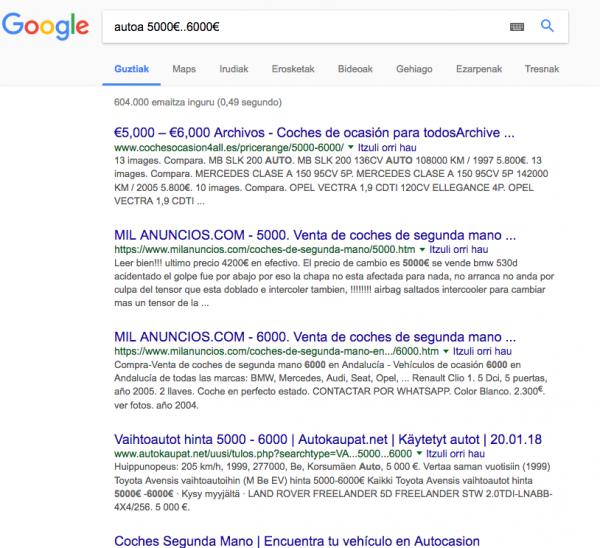 Nola bilatu Googlen jaubia lez 18