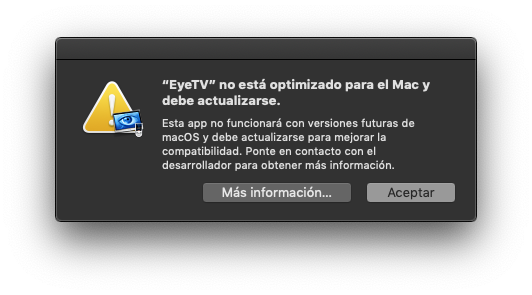 32 biteko abisua macOS Mojaven