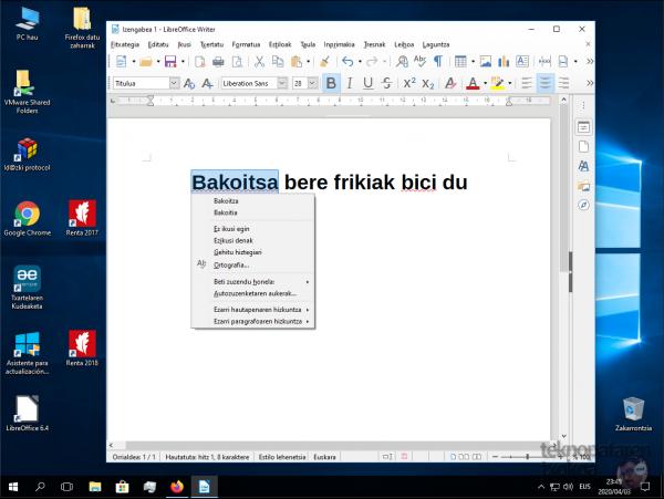 Denborapasa teknologiko produktibo euskaltzaleak itxialdirako 6/7: LibreOffice 4