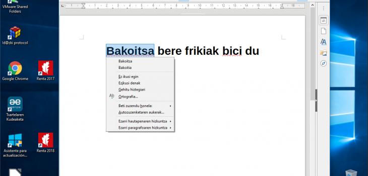 Denborapasa teknologiko produktibo euskaltzaleak itxialdirako 6/7: LibreOffice 8