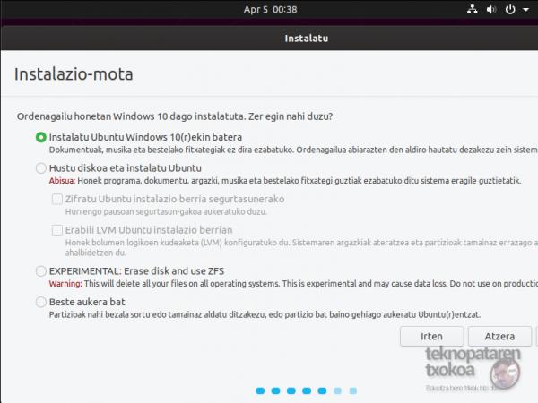 Denborapasa teknologiko produktibo euskaltzaleak itxialdirako (eta 7): Ausartu Linuxekin! 19