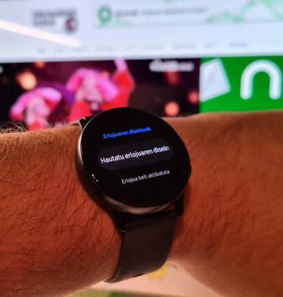 Galaxy Watch Active, erlojua euskaraz