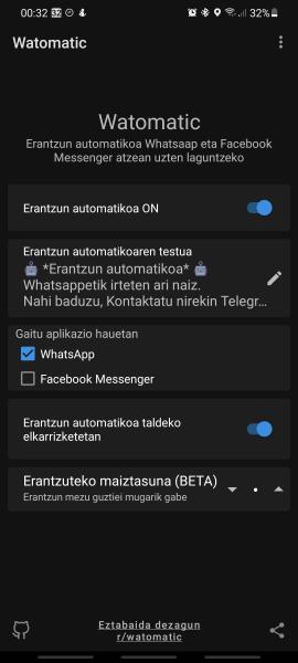 Watomatic, Whatsappetik ateratzen lagunduko dizun erantzungailu automatikoa 3