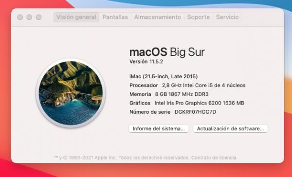 """[SALDUTA]: iMac 21'5"""" late 2015 3"""